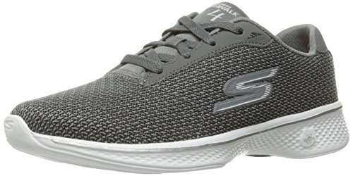 Skechers Performance Damen Go Walk 4 Lace-Up Wanderschuhe Grau