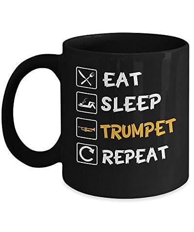 Eat Sleep Trumpet Repeat - Funny Novelty Coffee Mug (Marching Band Mug)