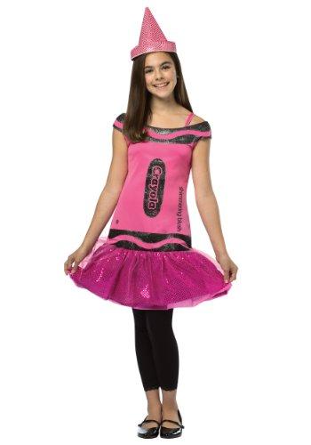 [Crayola Glitz & Glitter Dress Costume - Preteen/Tween] (Teen Crayola Blush Glitz Dress)
