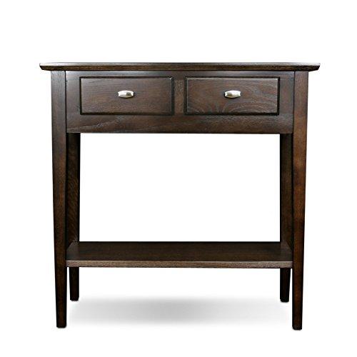 Foyer Console Game : Leick furniture hall console sofa table chocolate oak