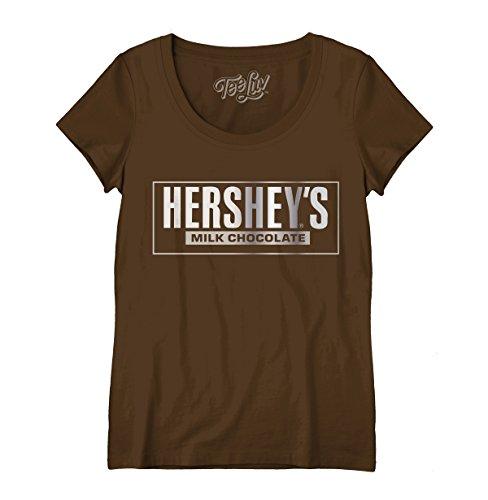 Tee Luv Hershey's T-Shirt - Hershey's Milk Chocolate Shirt for Women - T-shirts Hersheys