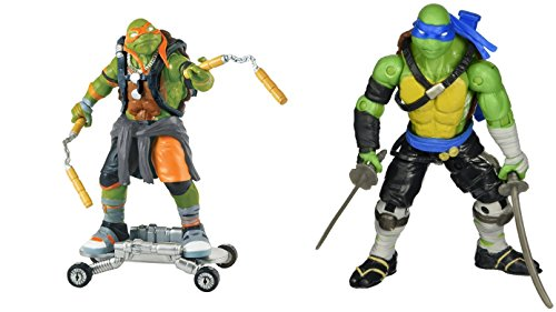 [Super Hero Ninja Turtles The Shadows Michelangelo & Leonardo 5-inch Action Figures Toys, 2 Pack] (Assassins Creed Costume For Kids At Party City)