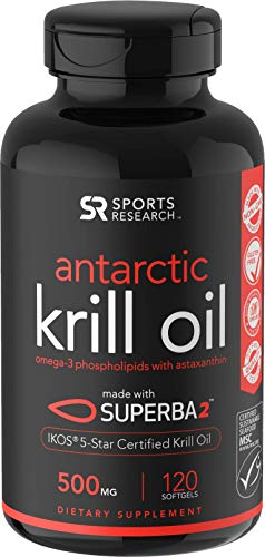 (Antarctic Krill Oil (500mg) with Omega-3s EPA, DHA and Astaxanthin (120)