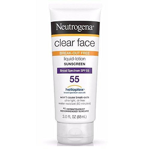 Neutrogena Clear Break Out Liquid Lotion Sunscreen