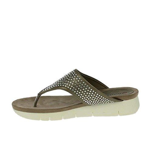 Estaño De Sandalias De Kaitlyn Heavenly Feet Oro Peltre/oro