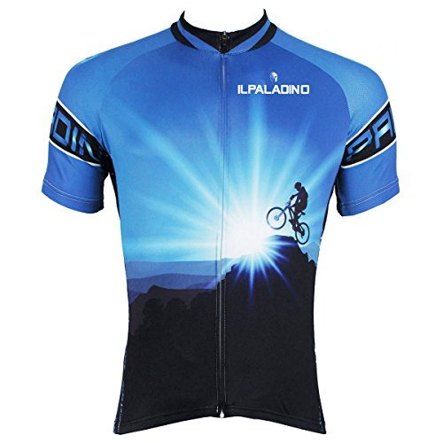 ILPALADINO Men s Cycling Jersey Short Sleeve Biking Shirts Riders Pattern  (L ebb5cb1ee