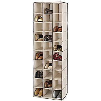 Whitmor Hanging Shoe Shelves 30 Section