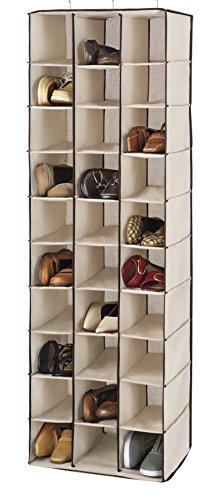 Hanging Shoe Shelves (Whitmor Hanging Shoe Shelves - 30 Section - Closet Organizer - Canvas)