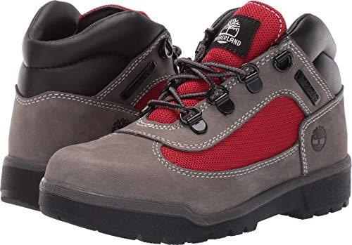 Timberland Kids Boy's Fabric/Leather Field Boot (Little Kid) Grey Waterbuck 1 M US Little Kid
