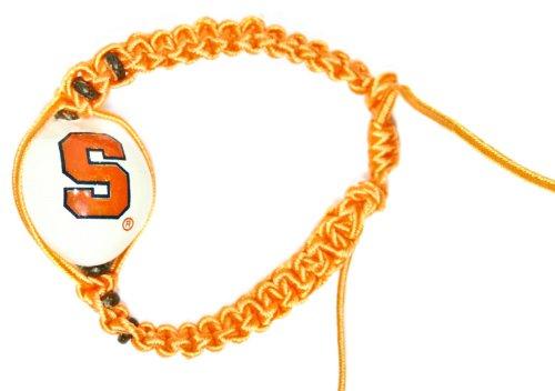 Style Pasifika NCAA Syracuse Orange Go Nuts Kukui Nut Macrame (Syracuse Orangemen Bracelets)