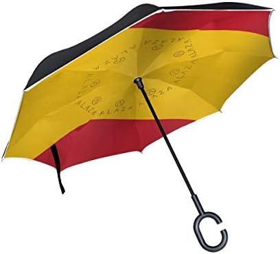 Paraguas invertido de doble capa, paraguas plegable con diseño de ...