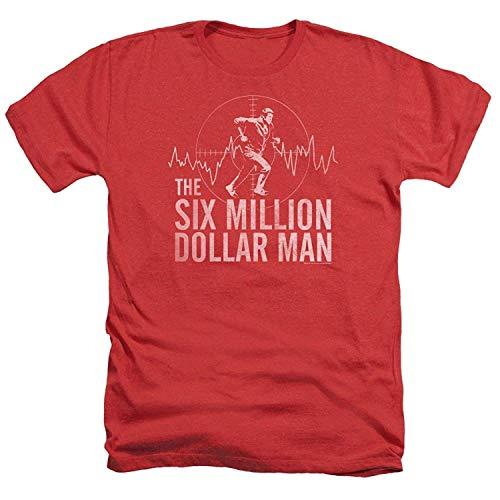 - Top-T Six Million Dollar Man Casual Mens T Shirts Red