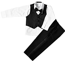 Boys Infant and Toddlers Black Tuxedo Size Medium