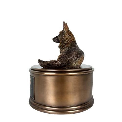 Perfect Memorials Custom Engraved German Shepherd Figurine Cremation Urn by Perfect Memorials (Image #1)