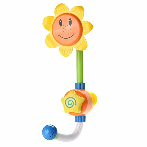 ath Toy Sunflower Shower Faucet Bath Water Play Learning Toy Gift Retail Package (Beadboard Toy Boxes)