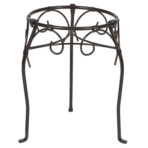 CobraCo Kingston 15-Inch Bronze Scroll-Style Plant Stand MG1115-BZ ()