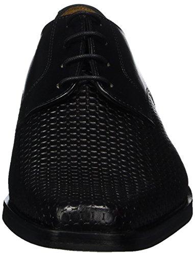 Melvin & Hamilton Mark 1, Scarpe Stringate Derby Uomo Nero (Black Bubble / Ecocalf / Black / Black / New Hrs)