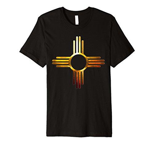 New Mexico Tshirt - Zia symbol Gold - Symbol New T-shirt