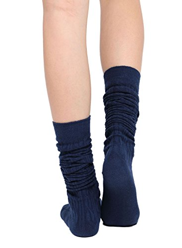 Womens Winter Kabel stricken über Knee High Tigh hohe Socken 1-3 Paar Einzelne Marine