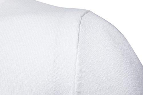 Maglione Manica Alto Dolcevita Bianco Maglia Zhuikun Collo Lunga Da Uomo wI1Idx
