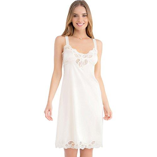 Ilusion 2012 - Lace Trim Satin Full Slip - Beige, Size 36