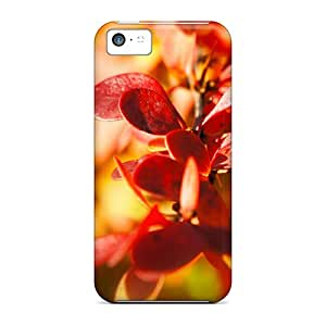 Premium Iphone 5c Case - Protective Skin - High Quality For Red Flowers