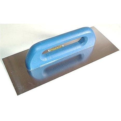 Zahnung: 6 mm Schweizer Gl/ättekelle 320x130mm Aufziehplatte Aufziehgl/ätter Gl/ättkelle Gl/ätter