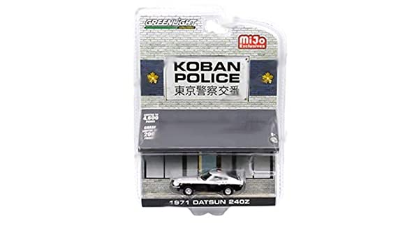 Amazon.com: DIECAST 1:64 1971 Datsun 240Z KOBAN Police - MIJO Exclusives 51156 by Greenlight: Toys & Games