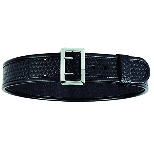 Bianchi 7960 BSK Black Sam Browne Belt with Chrome Buckle (Size 42)