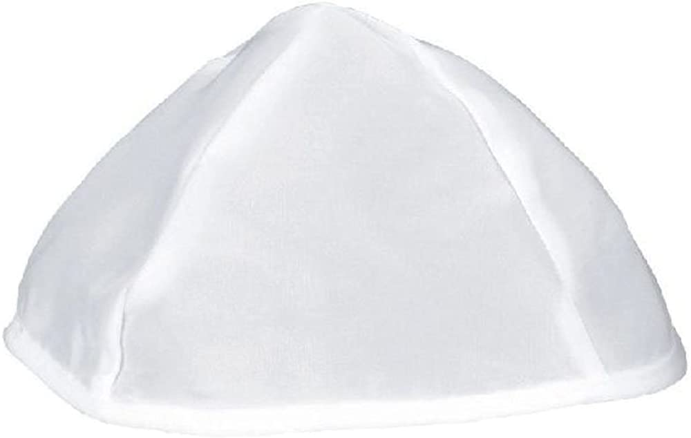 Bulk Rayon White Kippot for Synagouge Pack of 144 pcs.