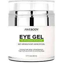 Upgraded Awebody Eye Gel Cream for Dark Circles, the Most Effective Anti-Aging Eye Gel and Eye Circle Cream, Anti Aging Eye Cream for Day and Night Using, the Best Eye Gel Cream for 2018