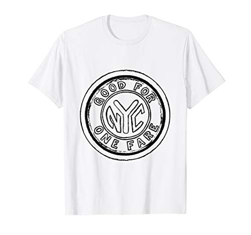 New York City Subway Token NYC Fashion Art T-Shirt (Subway Token Nyc)