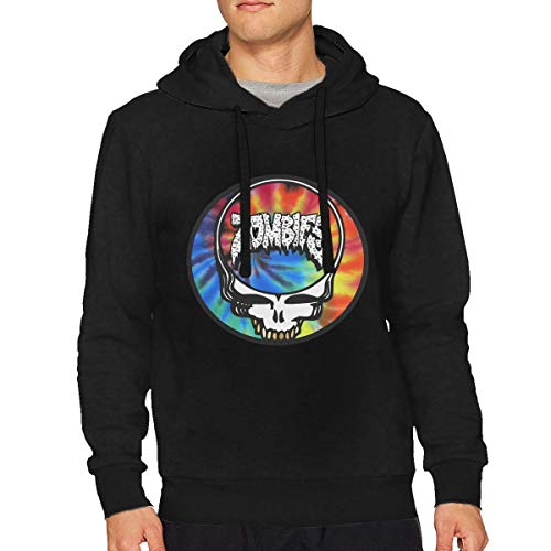 VicRomanko Mans Flatbush Zombies Long Sleeve Young Funny Drawstring Music Hooded XL Black - Funny Long Sleeve Zombies