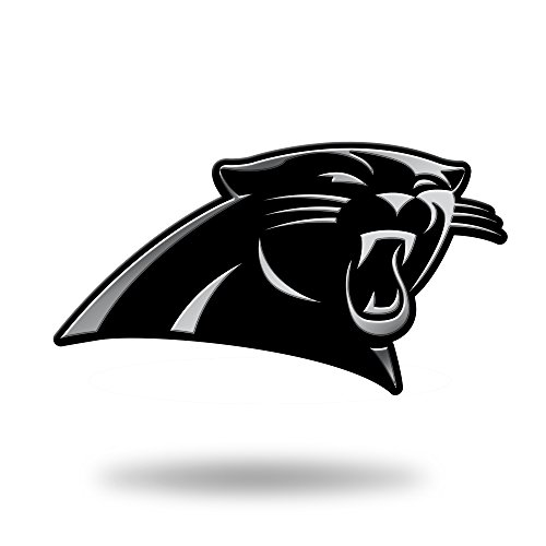 Rico Industries NFL Carolina Panthers Chrome Finished Auto Emblem 3D Sticker