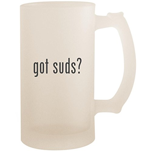 got suds? - 16oz Glass Frosted Beer Stein Mug, Frosted