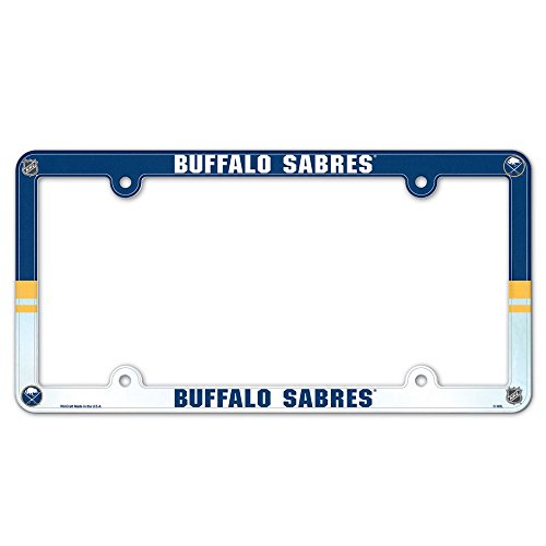 Wincraft NHL Buffalo Sabres License Plate with Full Color Frame -