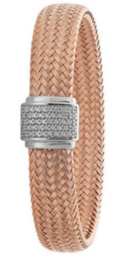 Bracelet Jonc en argent sterling 925plaqué or rose
