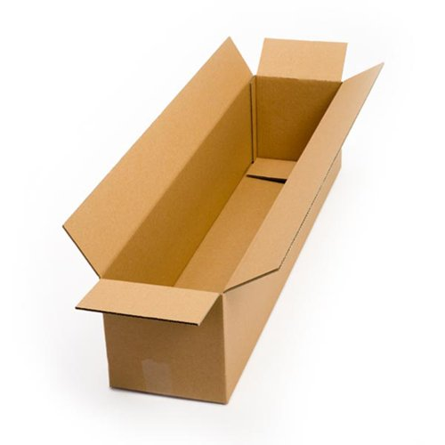 Pratt PRA0149 Recycled Corrugated Cardboard Single Wall Standard Long Box with C Flute, 36' Length x 8' Width x 8' Height, (Pack of 25)
