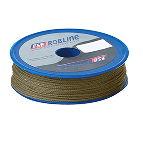 (FSE Robline Waxed Tackle Yarn Whipping Twine - Brown - 0.8mm x 80M)