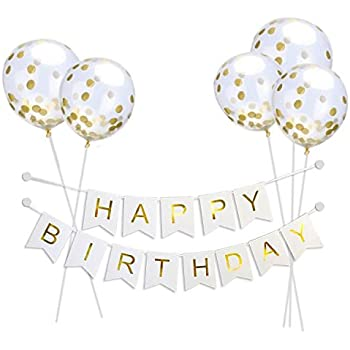 Amazoncom Outgeek Happy Birthday Balloons Banner Foil Balloons