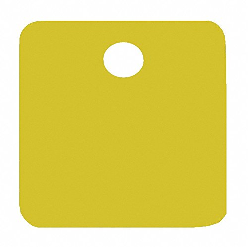 Gold Blank Tag, Aluminum, Square, 1-1/4'' Height, 5 PK