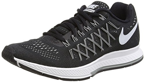 Nike Womens Air Zoom Pegasus 32 Black/White/Pure Platinum Running Shoe 7.5 Women US