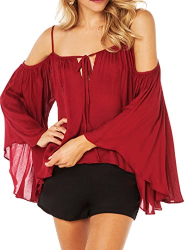 Choies Womens Ruched Shoulder Spaghetti