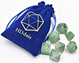 Polyhedral DND Dice Sets Green Jade Dice for Dungeons and Dragons Pathfinder DND RPG MTG Table Gaming Dice