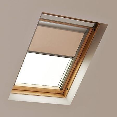 BEIGE Blackout Roof Roller Blind for Keylite Windows Code 10