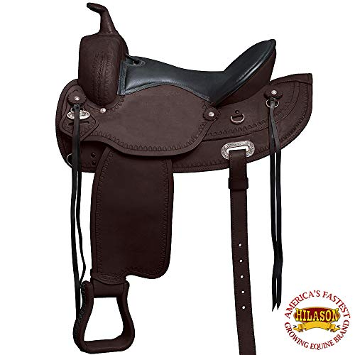 HILASON 16″ Western Draft Horse Saddle Wide Gullet Trail Pleasure
