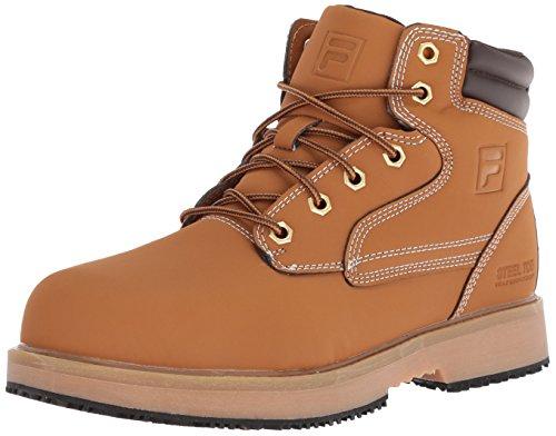 Fila Men's Landing Steel Slip Resistant Industrial Work Boot Food Service Shoe, Wheat/Espresso/Gum, 12 D ()