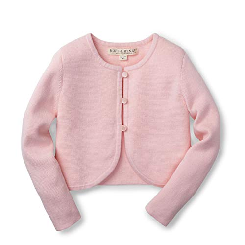 Hope & Henry Girls English Rose Cropped - Rose Pullover Sweater