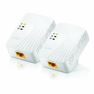 ZyXEL 500 Mbps Mini Powerline AV Ethernet Adapter (PLA4201)