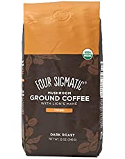 FOUR SIGMATIC Mushroom Coffee Mix Dark Roast Ground, 340 g